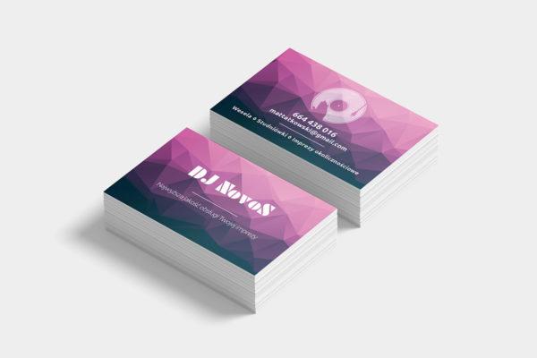 projekt wizytówki dla DJ NovoS